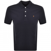 Product Image for Farah Vintage Short Sleeved Polo T Shirt Navy